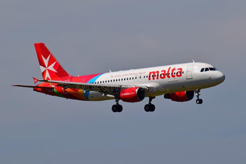 Lotniczy Malta Aerobus A320 obraz stock