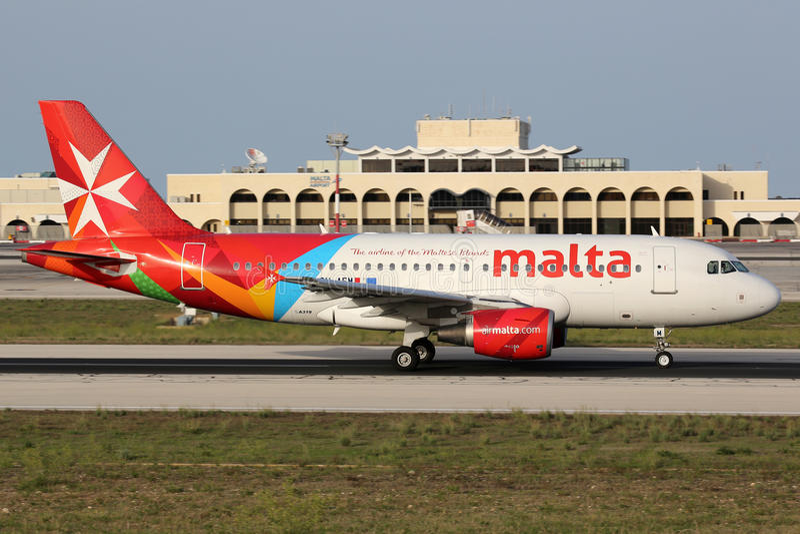 Lotniczy Malta Aerobus A319 obraz stock