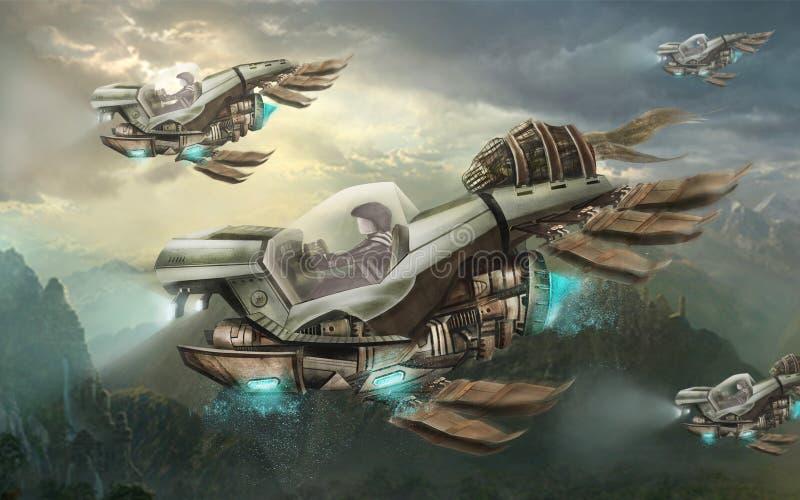 Lotniczy pojazd royalty ilustracja