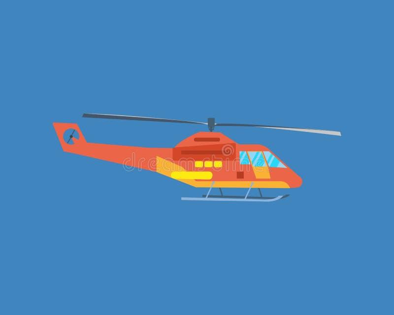 Lotniczy pojazdy Nowożytny helikopter dla pasażerskiego transportu ilustracja wektor