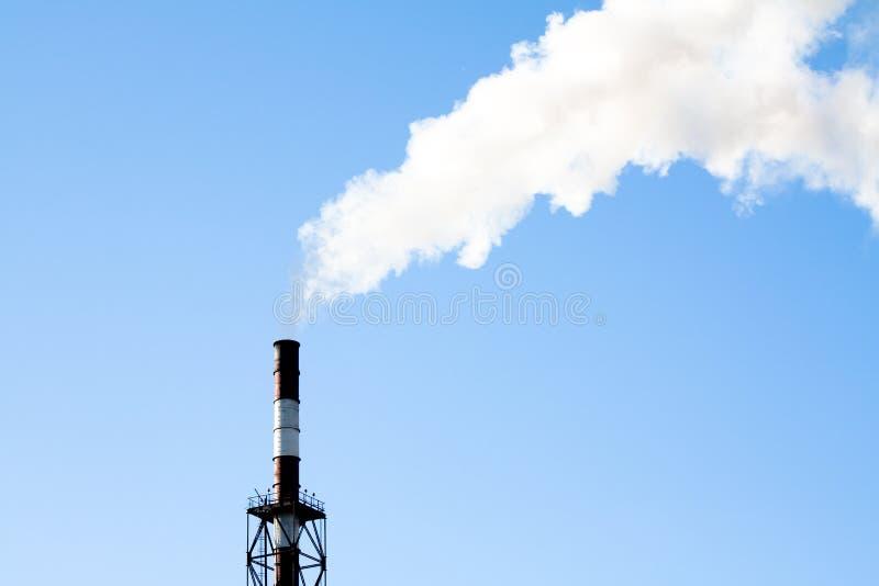 lotniczy przemysłowy zanieczyszczenie obrazy stock