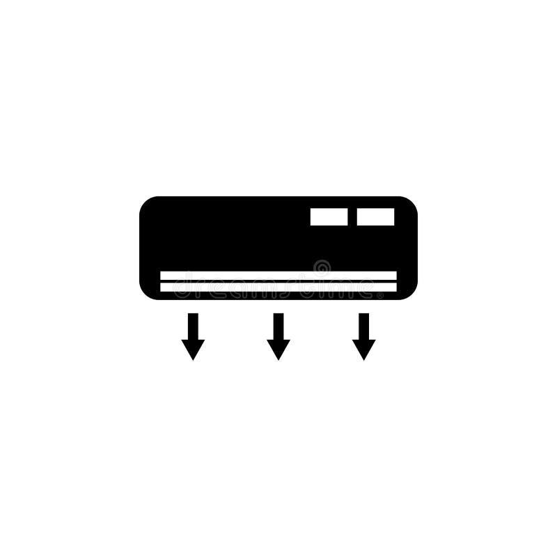 Lotniczy uwarunkowywać Elementy ogrzewanie ikona Premii ilości graficzny projekt Znaki, konturów symboli/lów kolekcja, prosta iko royalty ilustracja
