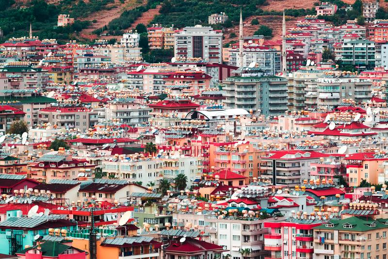 lotniczy widok miasta obraz royalty free