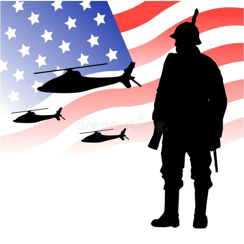 lotniczy wojska siły stan jednoczący ilustracja wektor
