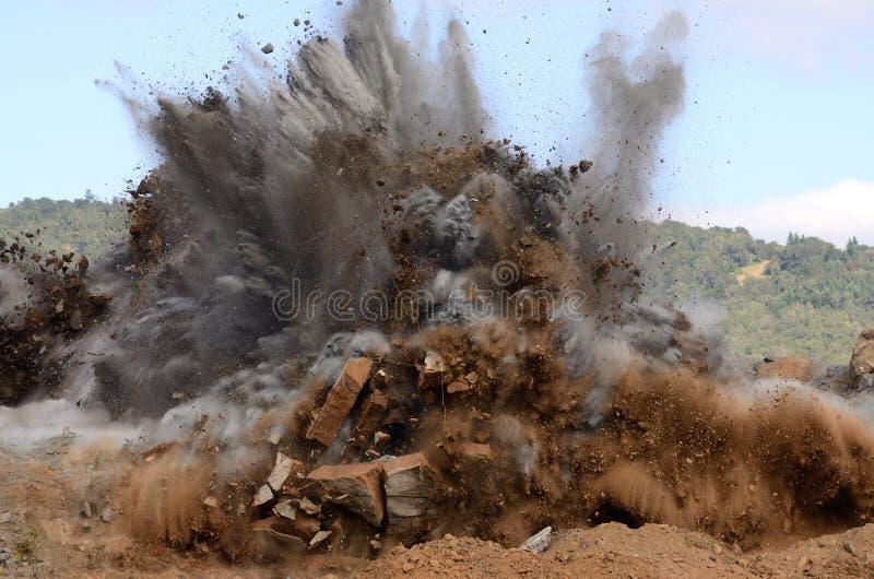 Lotniczy wzgórze wybuch 4 zdjęcie stock