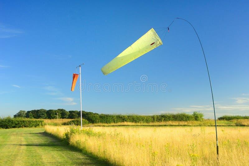 Lotnisk Windsocks obraz stock