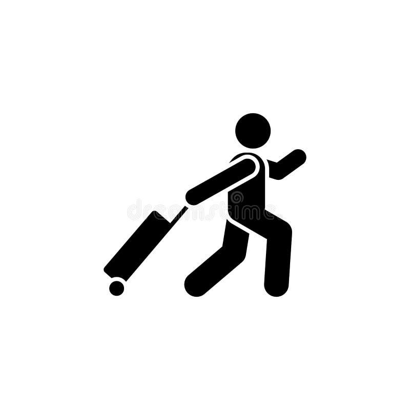 Lotnisko, mężczyzna, hotelowa ikona Element hotelowa piktogram ikona Premii ilo?ci graficznego projekta ikona Znaki i symbol kole ilustracji