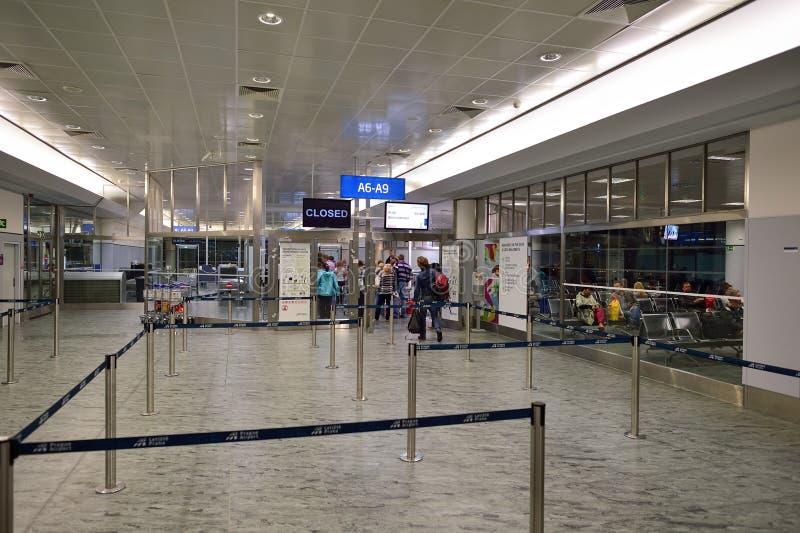 Lotnisko międzynarodowe Praga fotografia stock