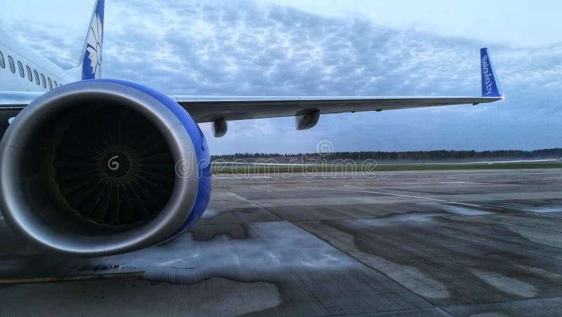 Lotnisko niebo zdjęcie stock