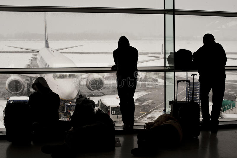lotnisko odwoływający zamknięci loty obrazy stock