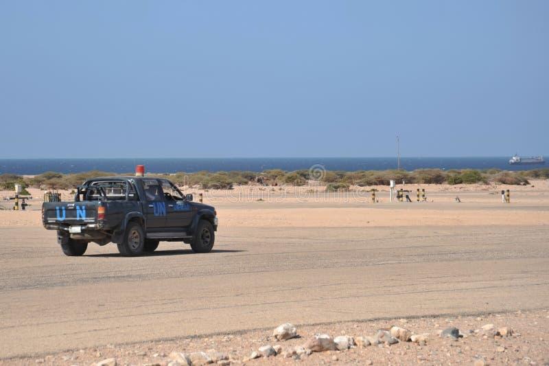 Lotnisko w mieście Berbera zdjęcia royalty free