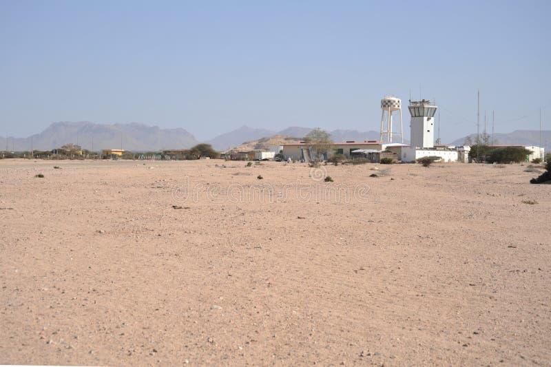 Lotnisko w mieście Berbera obraz royalty free
