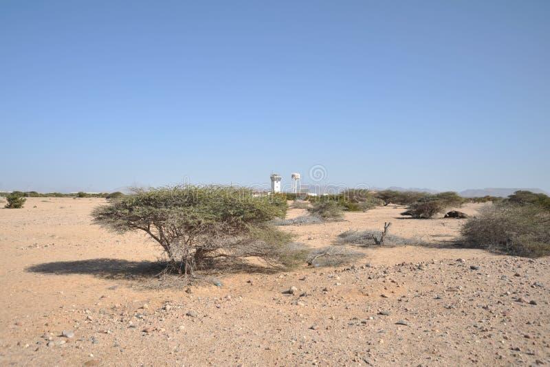 Lotnisko w mieście Berbera fotografia royalty free