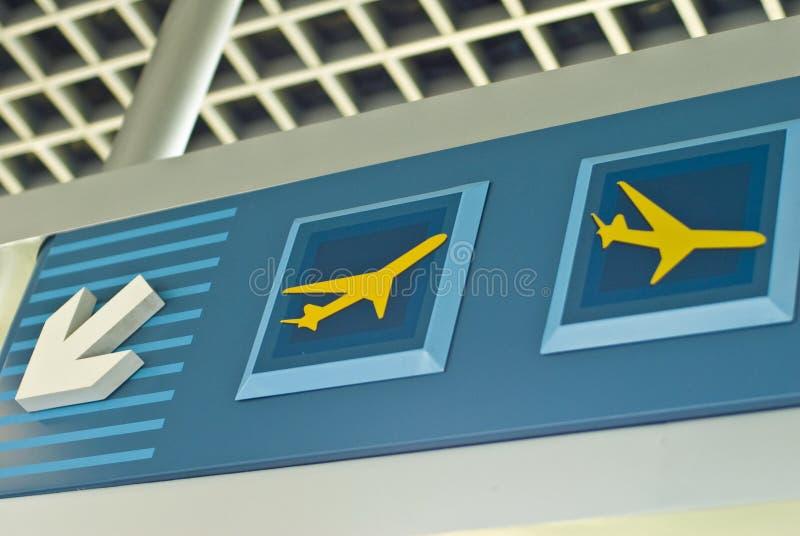 lotnisko znak obraz stock