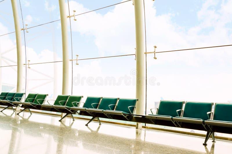 Lotniskowa ławka zdjęcie royalty free