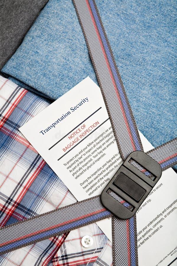 lotniskowa bagażowego czek ochrona zdjęcie royalty free
