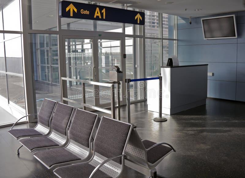 lotniskowa brama obraz royalty free