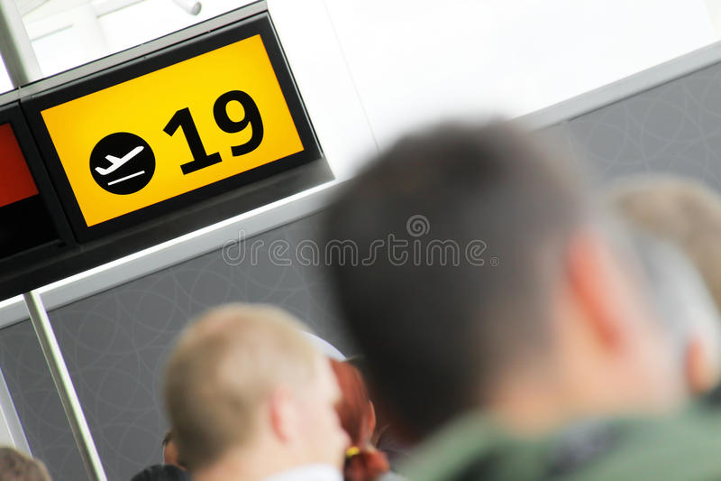 Lotniskowa brama zdjęcie stock