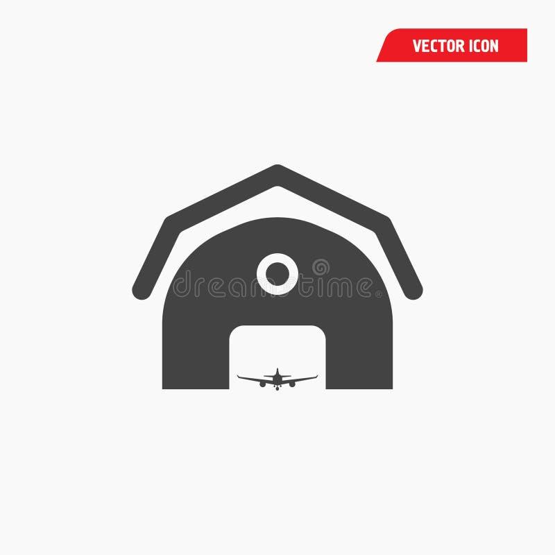 Lotniskowa linia lotnicza garażu ikona ilustracji