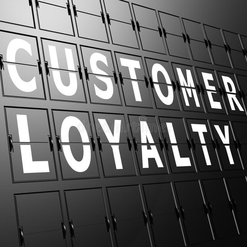 Lotniskowa pokazu klienta lojalność ilustracja wektor