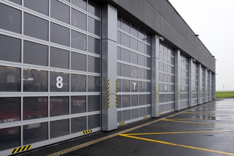 lotniskowa strażaka garażu usługa obraz stock