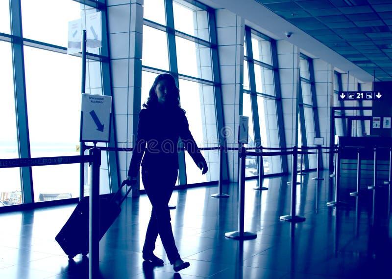 Lotniskowa wyjściowa brama obraz royalty free