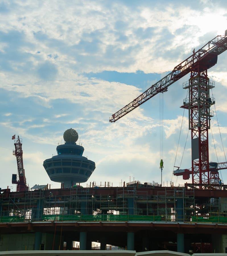 Lotniskowego terminal budowa Singapur zdjęcia royalty free