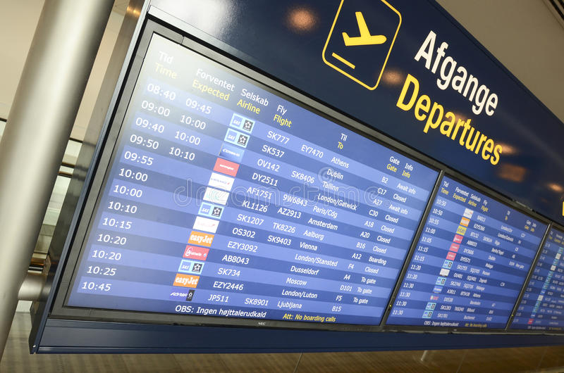 Lotniskowi odjazdy obraz stock