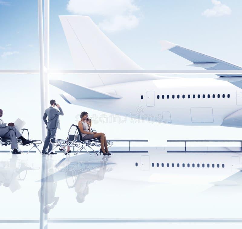 Lotniskowi podróży wycieczki transportu pojęcia ludzie biznesu zdjęcia stock