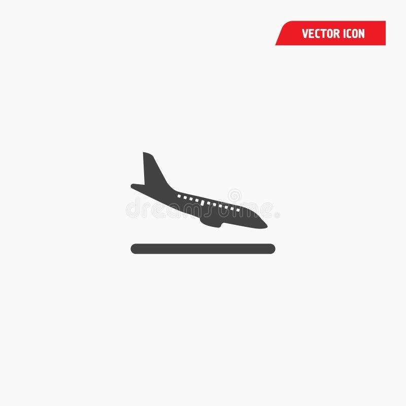 Lotniskowi przyjazdy ląduje ikonę ilustracji