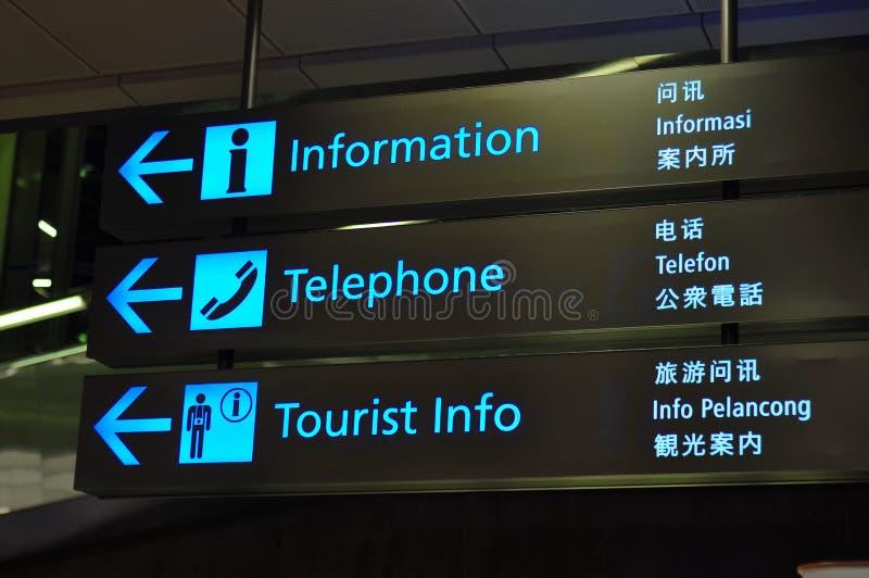 lotniskowi znaki zdjęcie royalty free