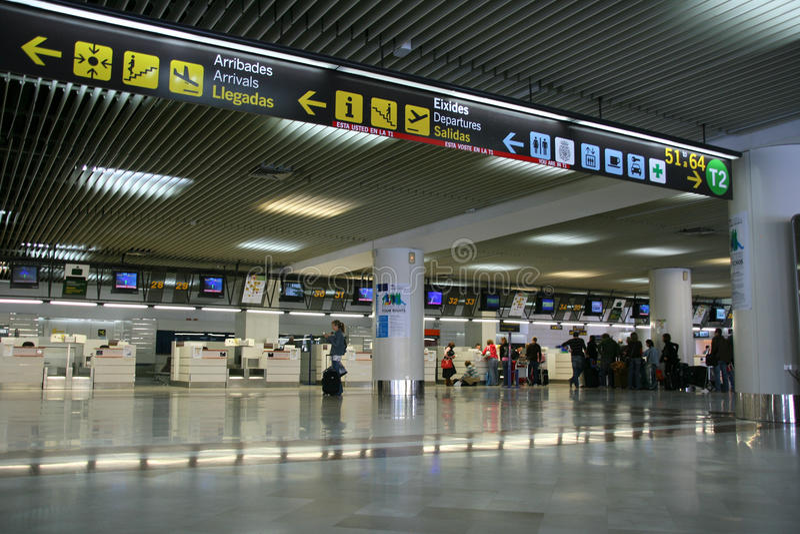 lotniskowy Alicante fotografia stock