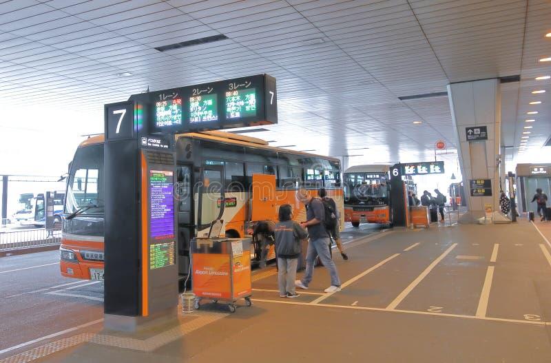 Lotniskowy autobusowy Narita lotniskowy Tokio Japonia zdjęcie royalty free
