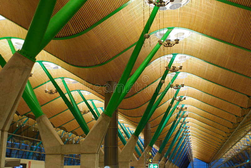 lotniskowy Barajas Madrid Spain fotografia stock