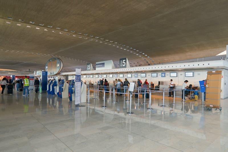 lotniskowy Charles De Gaulle fotografia royalty free