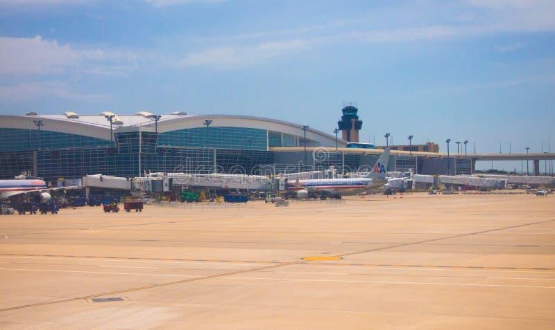 lotniskowy Dallas fortu zawody międzynarodowe worth zdjęcie stock