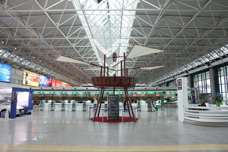lotniskowy Fiumicino Rome fotografia stock