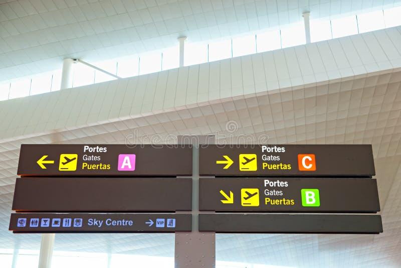 lotniskowy info signage turysta zdjęcia royalty free
