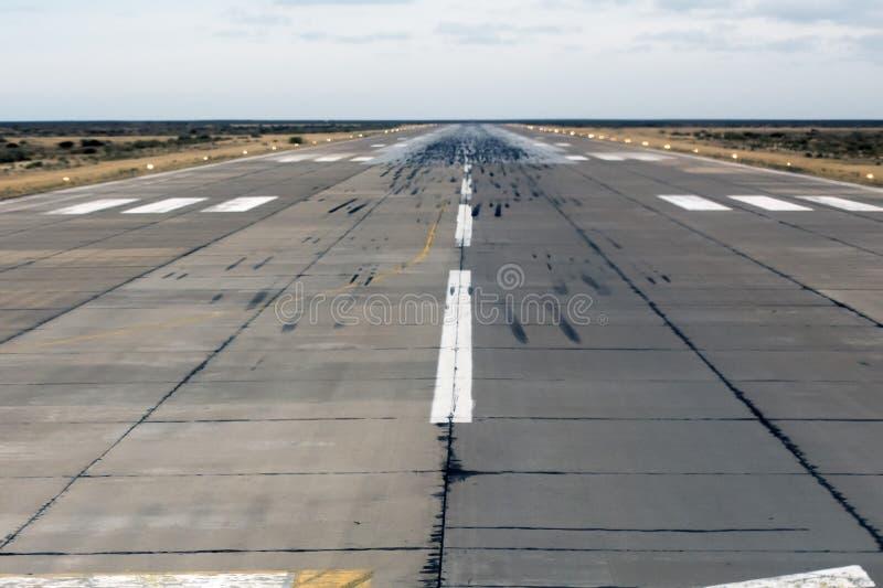 Lotniskowy lądowanie i zdejmował strefę zdjęcia royalty free