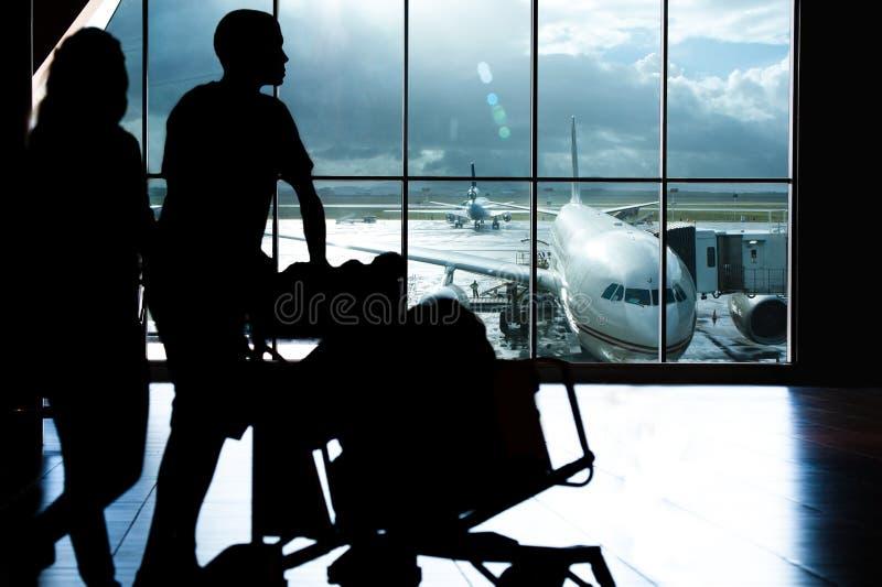 lotniskowy podróżnik fotografia royalty free