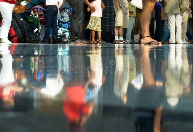 lotniskowy tłum fotografia stock