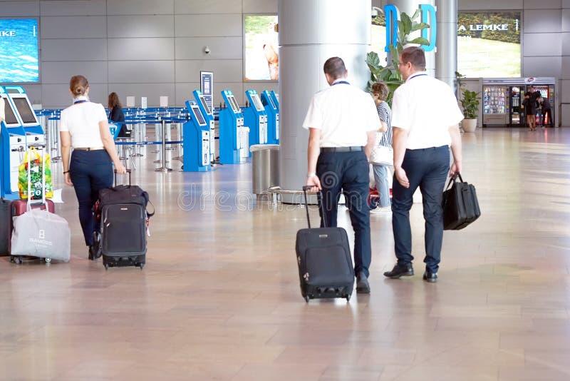 Lotniskowy Terminal Lotniskowi śmiertelnie odpraw biurka Ben Gurion lotniska strajka zapasu wizerunek zdjęcia stock