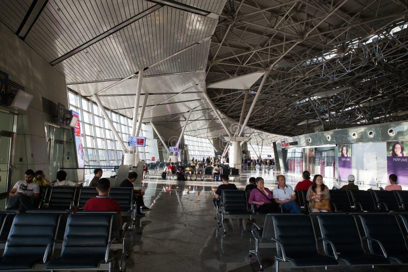 Lotniskowy Vnukovo: pole lotnisko zdjęcie stock