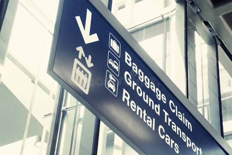 Lotniskowy wyjście znak obraz stock