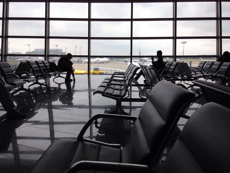 Lotniskowy wyjściowy hol fotografia royalty free