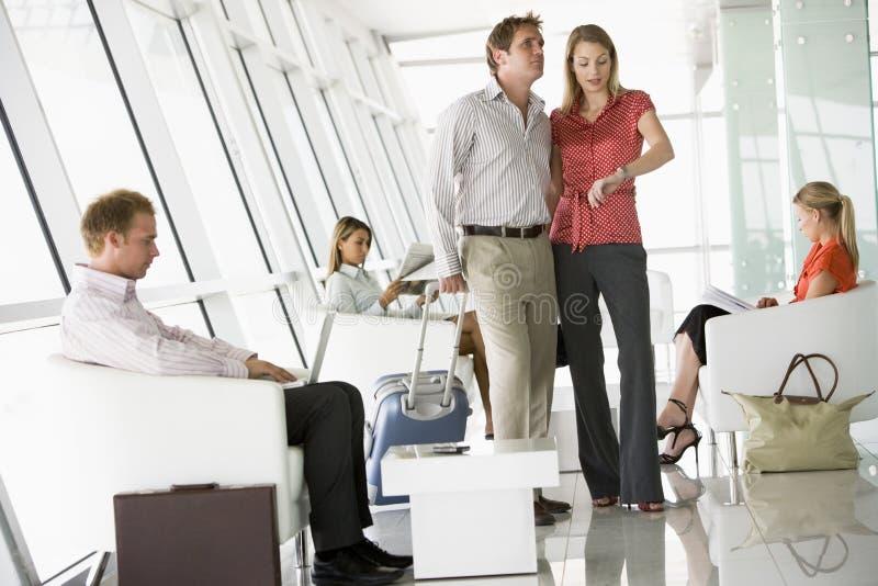 lotniskowy wyjściowy holu pasażerów target2982_1_ fotografia stock