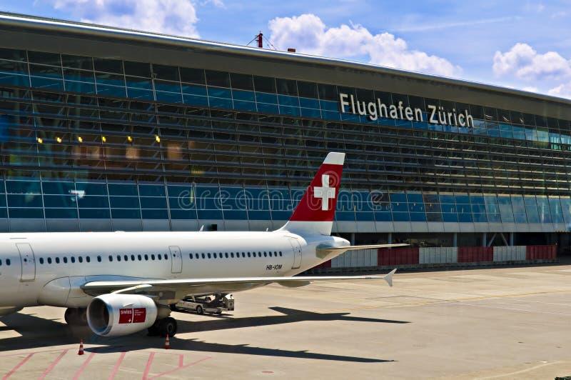 lotniskowy Zurich zdjęcia royalty free