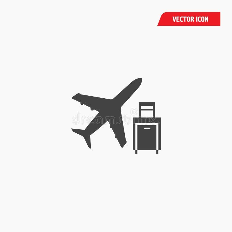 Lotniskowych linii lotniczych podróży bagażowa ikona ilustracji