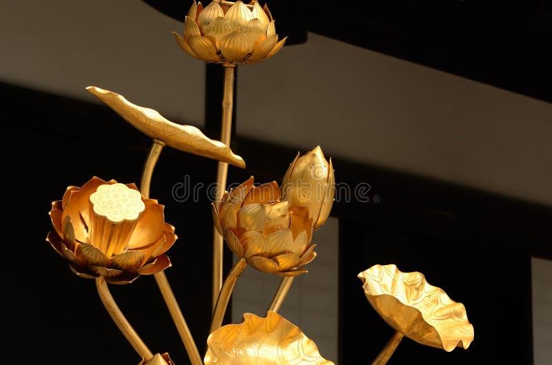 Loto de oro del templo, Kyoto Japón foto de archivo libre de regalías