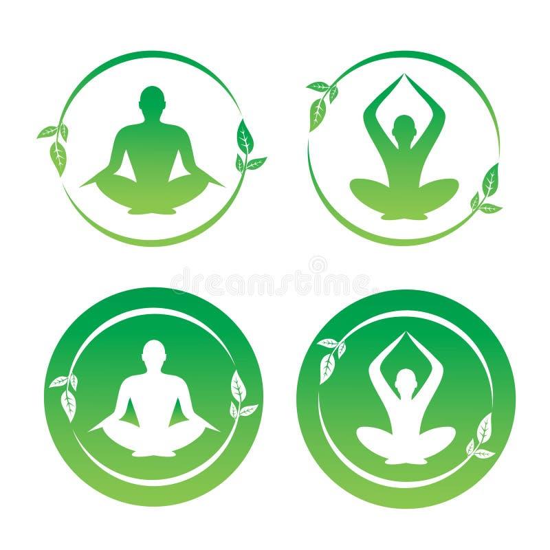 Loto di yoga illustrazione vettoriale